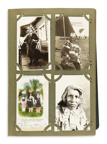(AMERICAN INDIANS.) Attractive album of postcards depicting American Indians.