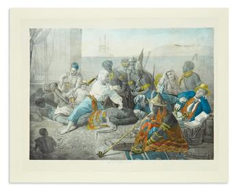 (SLAVERY AND ABOLITION.) Sala, F.; lithographer. [The Slave Trade--Slaves on the West Coast of Africa.]
