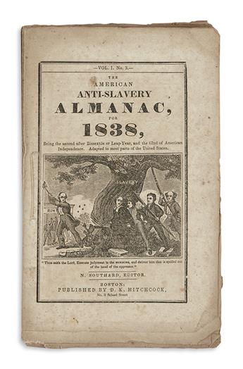 (SLAVERY AND ABOLITION.) Group of 7 abolitionist almanacs.