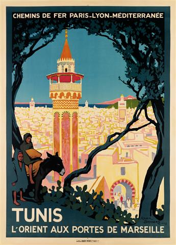 ROGER BRODERS (1883-1953). TUNIS. 1920. 42x30 inches, 108x77 cm. Daude Frères, Paris.