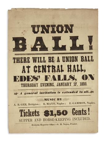 (MAINE.) Union Ball!
