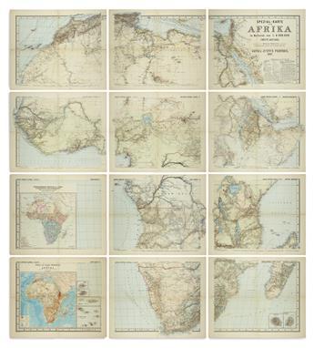 (AFRICA.) Habenicht, Hermann. Spezial-Karte von Afrika.