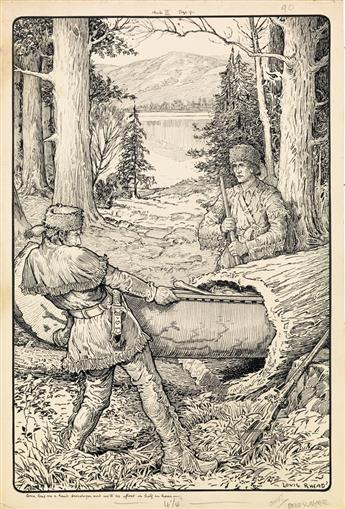LOUIS RHEAD. Come lend me a hand, Deerslayer, and well be afloat in half an hour.