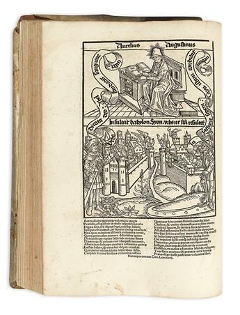 AUGUSTINUS, AURELIUS, Saint.  De civitate Dei.  1515 + De summa Trinitate.  1515
