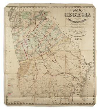 JANES, THOMAS P.; and LITTLE, GEORGE. Map of Georgia to Accompany the Hand Book of Georgia.