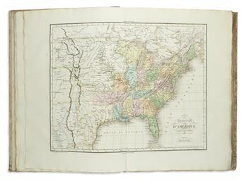 BUCHON, JEAN ALEXANDRE. Atlas Geographique, Statistique, Historique et Chronologique des Deux Ameriques et des Iles Adjacentes.
