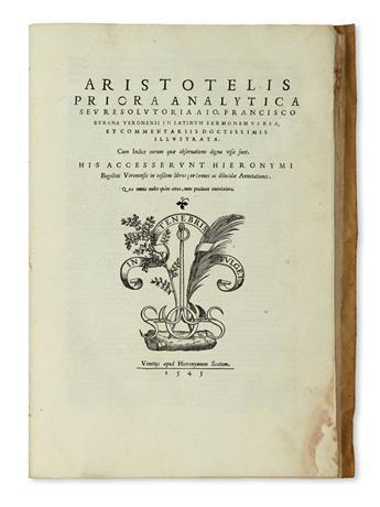ARISTOTLE. Priora analytica seu Resolutiora. 1545