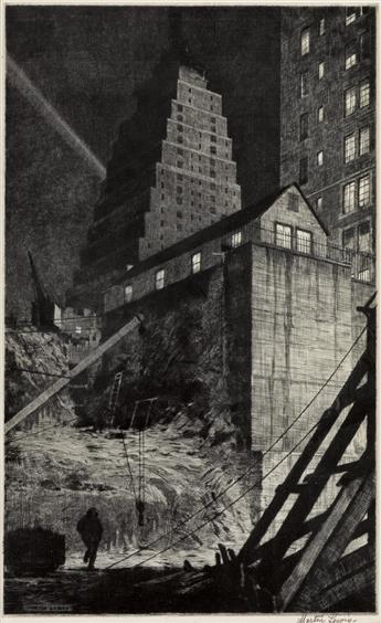 MARTIN LEWIS Building a Babylon, Tudor City, N.Y.C.