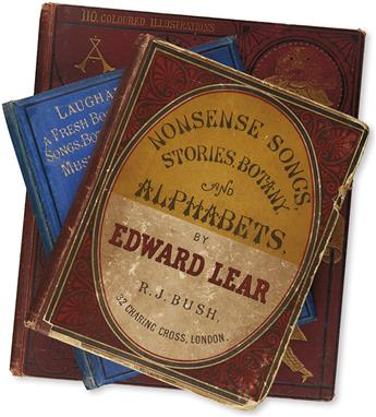 (CHILDRENS LITERATURE.) LEAR, EDWARD. Group of 3 Nonsense Books.