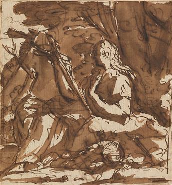FRANÇOIS MARIUS GRANET (Aix-en-Provence 1775-1849 Aix-en-Provence) Mary Magdalene in the Wilderness.