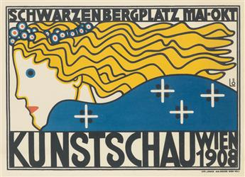 BERTOLD LÖFFLER (1874-1960). KUNSTSCHAU WIEN. 1908. 14x19 inches, 36x49 cm. Alb. Berger, Vienna.