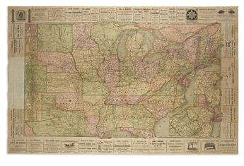 (RAILROADS and ADVERTISEMENTS.) Railroad Map and Business Guide in Book Form 1885-1886.