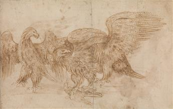 ITALIAN SCHOOL, EARLY 16TH CENTURY Studies of Eagles.