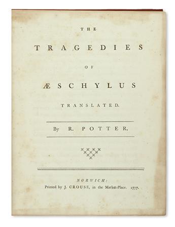 AESCHYLUS.  The Tragedies.  1777