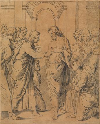 GEORG FRIEDRICH SCHMOLL (Ludwigsburg circa 1745-1785 Urdorf) The Incredulity of St. Thomas.