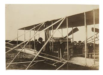 (AVIATION.) Group of 14 early aviation photographs by Bollée, Mayfield, and Hare.