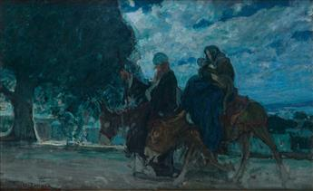 HENRY OSSAWA TANNER (1859 - 1937) Flight into Egypt.