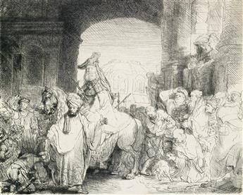 REMBRANDT VAN RIJN The Triumph of Mordecai.