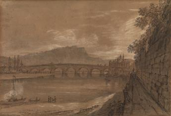 GERMAN SCHOOL, EARLY 19TH CENTURY A View of Ehrenbreitstein Fortress from Koblenz.