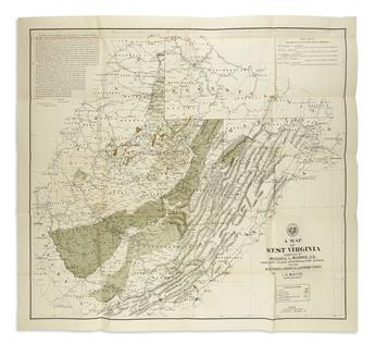 (WEST VIRGINIA.) Morris, Russell; and White, I.C. A Map of West Virginia...
