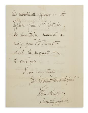 (ABRAHAM LINCOLN.) Two Autograph Letters Signed by Lincolns co-biographers: John Milton Hay * John George Nicolay....