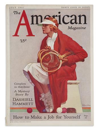 HAMMETT, DASHIELL. The American Magazine.