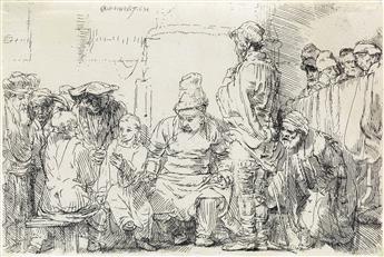 REMBRANDT VAN RIJN Christ Seated Disputing with the Doctors.