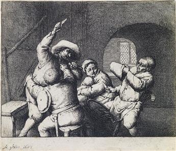 ADRIAEN VAN OSTADE The Peasants Quarrel.