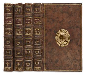 FIELDING, HENRY. Histoire de Tom Jones, ou L'Enfant Trouvé.  4 vols.  1750