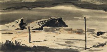 HUGHIE LEE-SMITH (1915 - 1999) Untitled (Desolate Landscape).