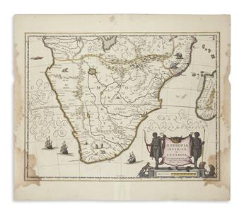 (AFRICA.) Janssonius, Johannes. Group of 6 double-page engraved maps of regions in Africa.