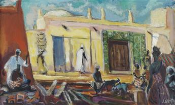 JAMES A. PORTER (1905 - 1970) Street of the Market, Zaria.
