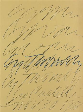 CY TWOMBLY Leo Castelli Gallery Poster.