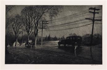 MARTIN LEWIS Wet Night, Route 6.