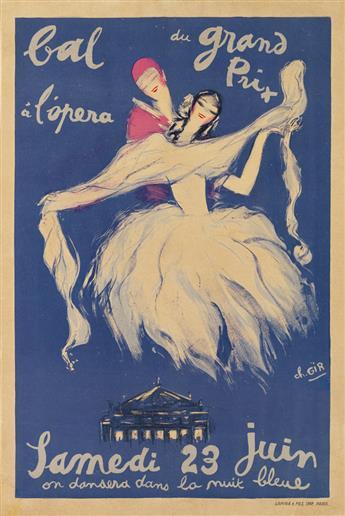 CHARLES-FÉLIX GIR (1883-1941). BAL DU GRAND PRIX Á LOPERA. 1929. 23x15 inches, 58x39 cm. Lapina & Fils, Paris.