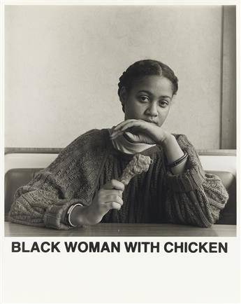 CARRIE MAE WEEMS (1953 -  ) Black Woman With Chicken.