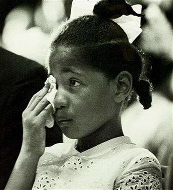 (CIVIL RIGHTS.) [EVERS, MEDGAR.] SCHULKE, FLIP. Reena Evers at her Fathers Funeral.