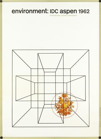 RALPH ECKERSTROM (1921-1996) & JOHN MASSEY (1931- ). ENVIRONMENT: IDC ASPEN. 1962. 64x47 inches, 163x120 cm. Hillison & Etten Company,