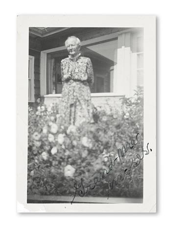 MOSES, ANNA MARY ROBERTSON (GRANDMA). Photograph Signed,