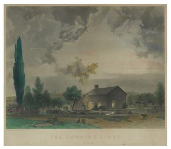 (SPIRITUALISM.) John, Joseph (after); Watts, J.W. (engraver). The Dawning Light. A Scene in Hydesville, N.Y., 1848.