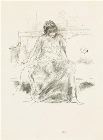 JAMES A. M. WHISTLER The Draped Figure, Seated.