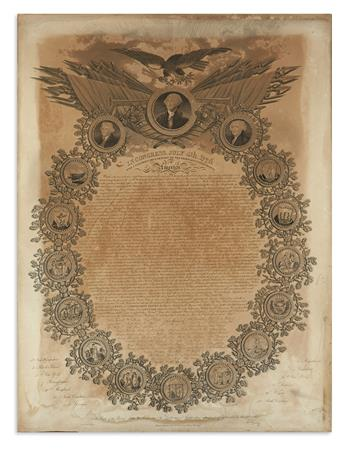 (DECLARATION OF INDEPENDENCE.) Woodruff, William; engraver. In Congress, July 4th, 1776. The Unanimous Declaration