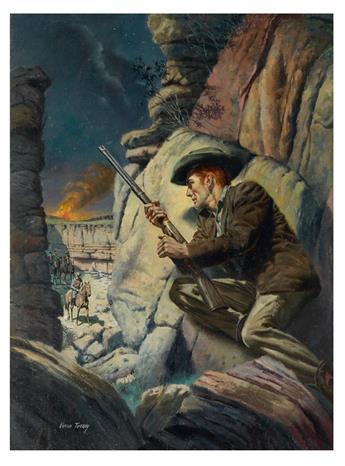 VERNE TOSSEY. Western paperback illustration.