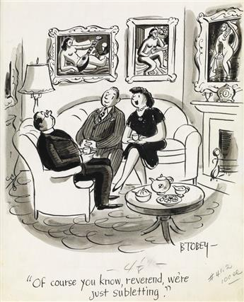(CARTOON. APARTMENT. NEW YORK.) BARNEY TOBEY. Of course you know, reverend, were just subletting.