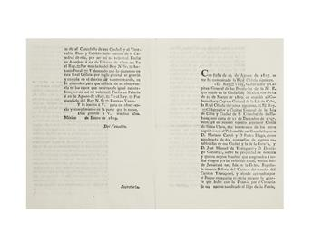 (CUBA.) Correspondence of the Viceroy of New Spain and Governor of Cuba regarding a ship full of captured slaves.