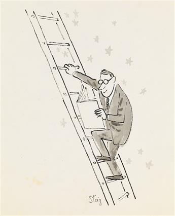 (CARTOON.)  WILLIAM STEIG. Group of 12 unpublished drawings.