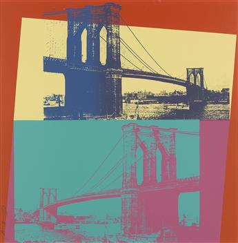 ANDY WARHOL Brooklyn Bridge.
