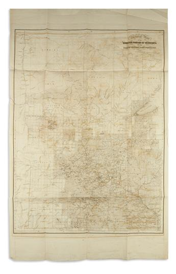 SEWALL, JOSEPH S.; and HILL, ALFRED J. Sectional Map of the Surveyed Portion of Minnesota and the North Western Part of Wisconsin.
