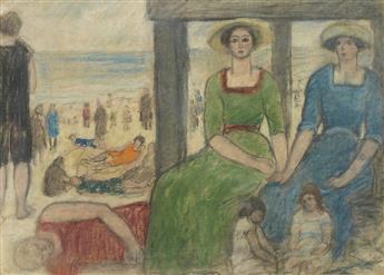 ABRAHAM WALKOWITZ Ladies at the Beach.