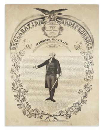 (DECLARATION OF INDEPENDENCE.) Bufford, J.H., lithographer. Declaration of Independence . . . Executed Entirely with a Pen